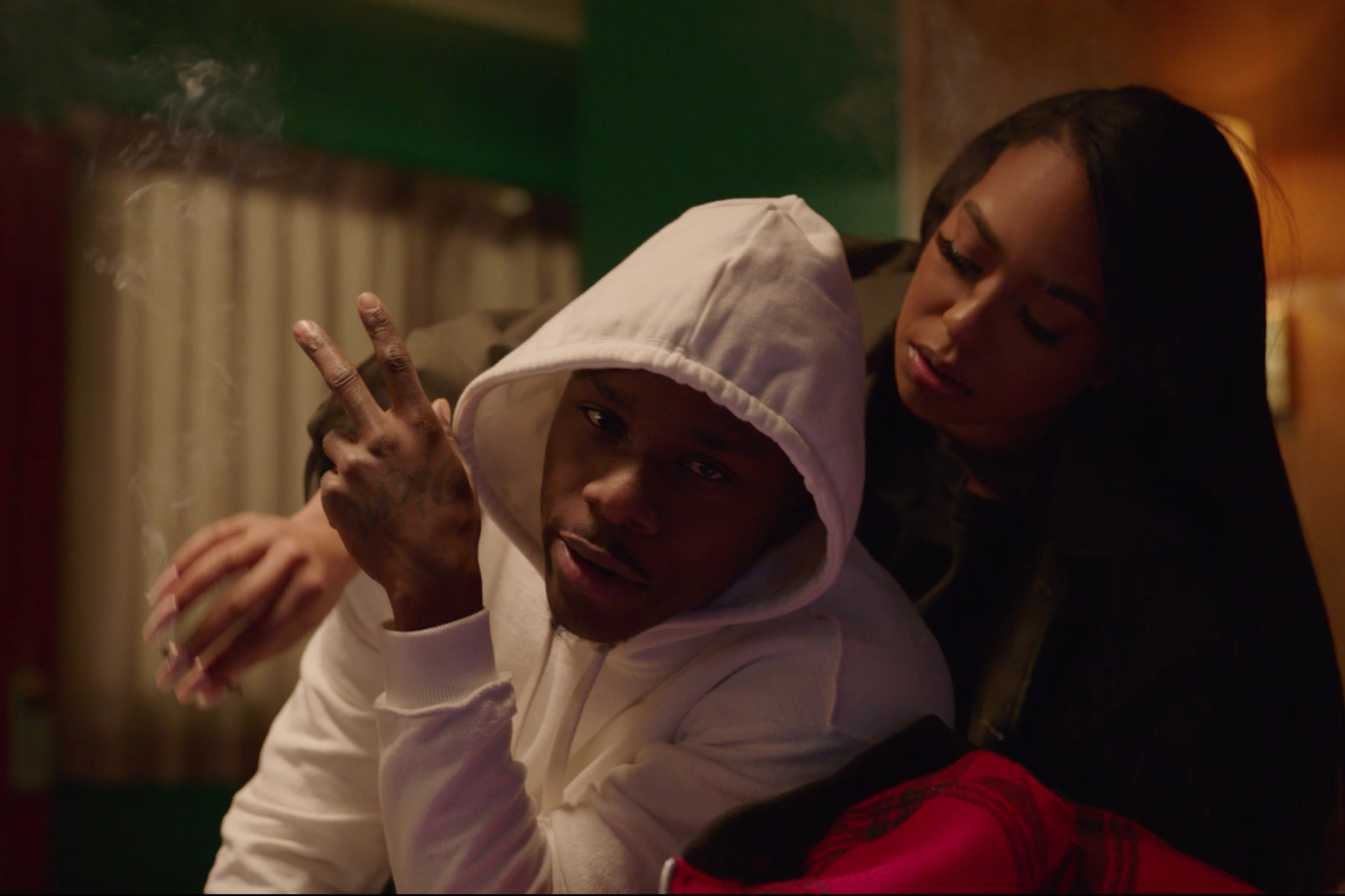 "B. Simone with DaBaby on the music video of ""Find My Way""."