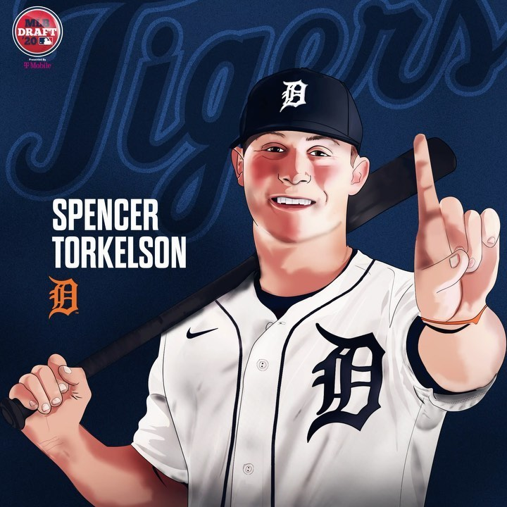 Spencer Torkelson picked no.1 overall at the 2020 MLB Draft.