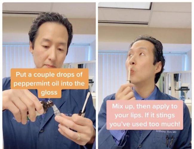 Homemade lip plumper